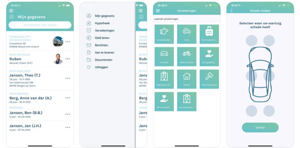 afbeeldingen van de Financieel Fit app